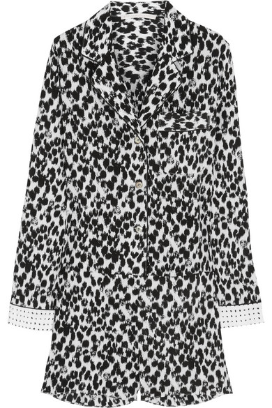 Stella McCartney | Daria Balancing printed stretch-silk playsuit | NET-A-PORTER.COM