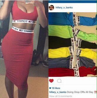 skirt top bra sports bra tommy hilfiger two piece dress set two-piece sport bra