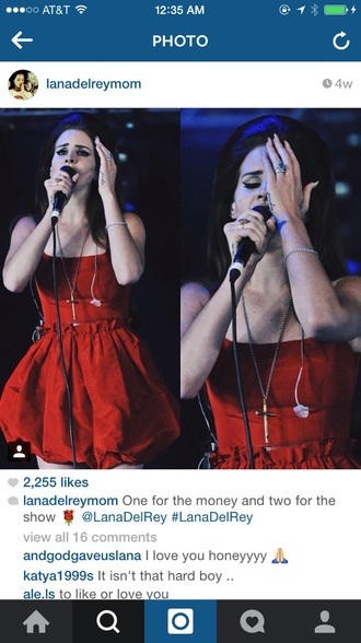 dress lana del rey red dress