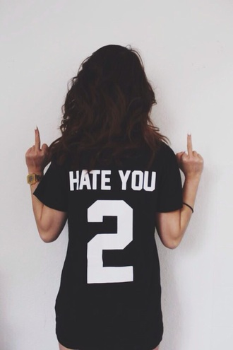 shirt shirts hate hate you 2 shirt oversized t-shirt