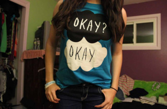 shirt blue the fault in our stars blue shirt hazel grace t-shirt blue t-shirt john green tank top