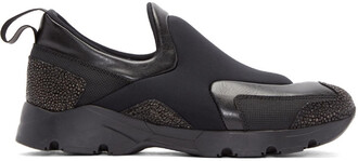 sneakers black neoprene shoes