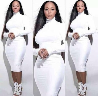 dress erica campbell white dress white dress