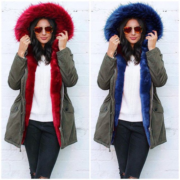 Coat: one nation clothing, khaki parka, parka, green parka, red ...