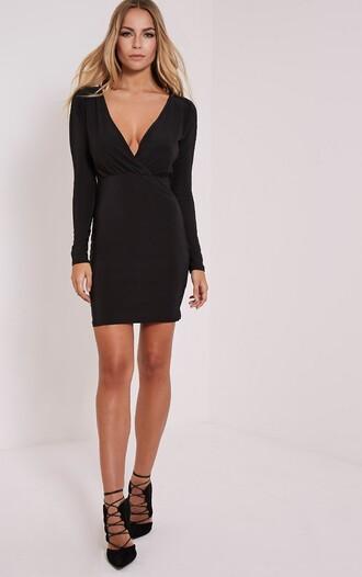 dress mini dress elastic dress black dress short dress office dress sexy v-neck dress v neck dress sexy dress party party dress slim dress