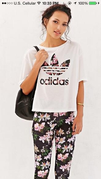 t-shirt adidas orchid
