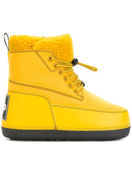 Kenzo snow boots women snow yellow orange shoes