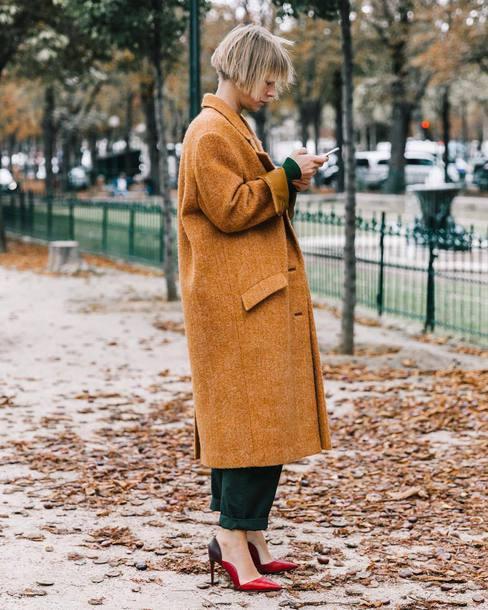 coat tumblr camel camel coat long coat camel long coat streetstyle oversized oversized coat shoes