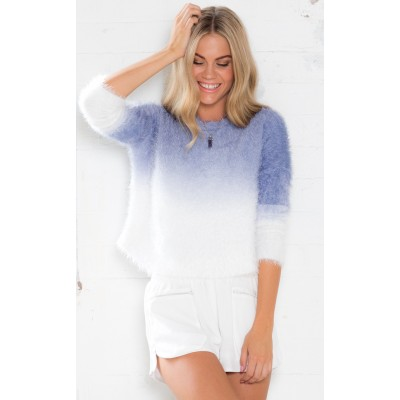 Changing Shades Sweater in Blue Ombre