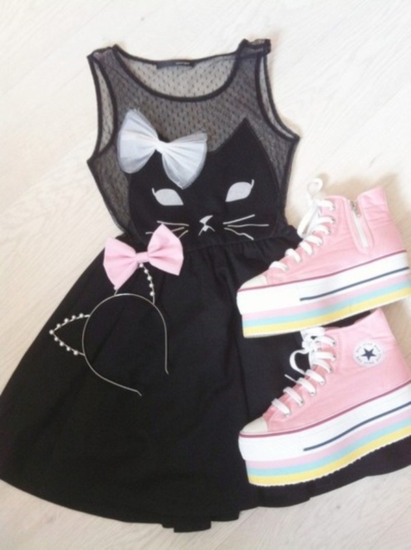 dress meow cat dress sweet