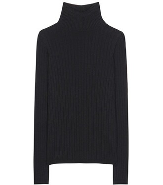 sweater turtleneck turtleneck sweater cotton silk black