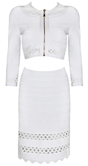 dress,dream it wear it,clothes,white,white dress,two piece dress set,cut-out,cut-out dress,scalloped,scallope dress,long sleeves,long sleeve dress,zip,whitewhite dress,bodycon,bodycon dress,party,party dress,sexy party dresses,sexy,sexy dress,party outfits,summer,summer dress,summer outfits,spring,spring dress,spring outfits,classy,classy dress,elegant,elegant dress,cocktail,cocktail dress,date outfit,birthday dress,girly,holiday dress