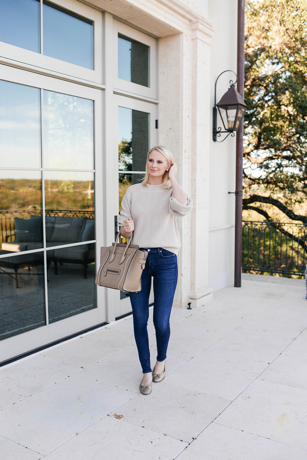 style archives | the style scribe blogger sweater jeans bag shoes handbag celine bag fall outfits ballet flats skinny jeans