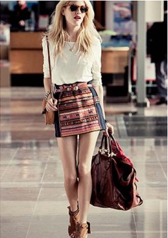 skirt red skirt bag