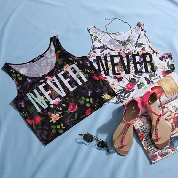 blouse clothes booty shorts sandals crop tops floral shoes tank top