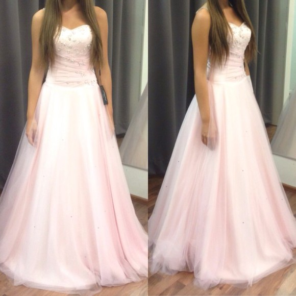 prom dress light pink prom