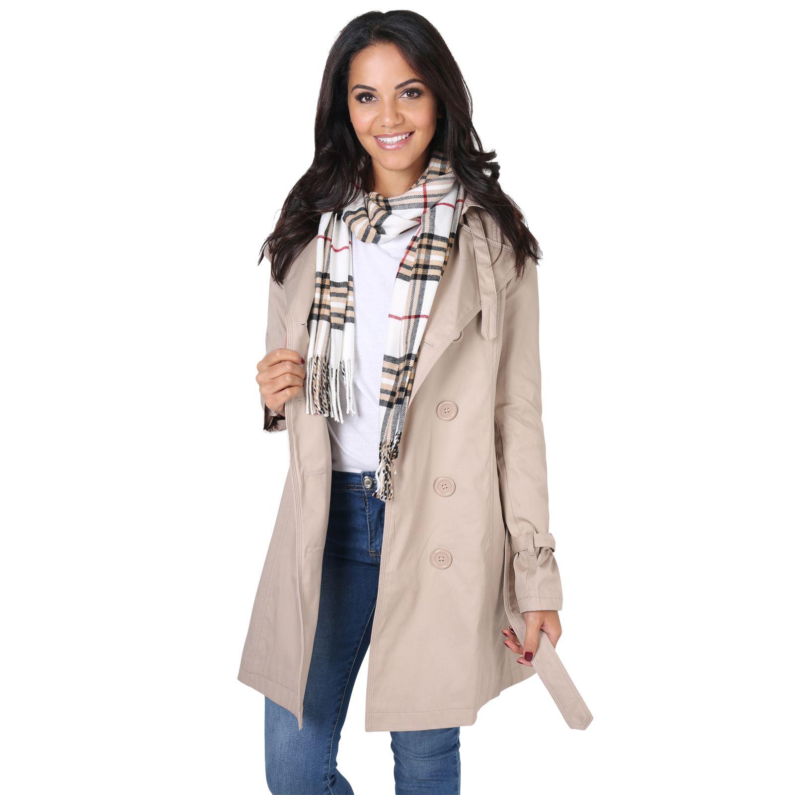 quality design ceb69 25ddb Damen Klassischer Trenchcoat Kurzmantel Winter Jacke Mantel ...