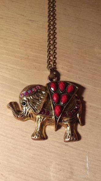 jewels elephant necklace