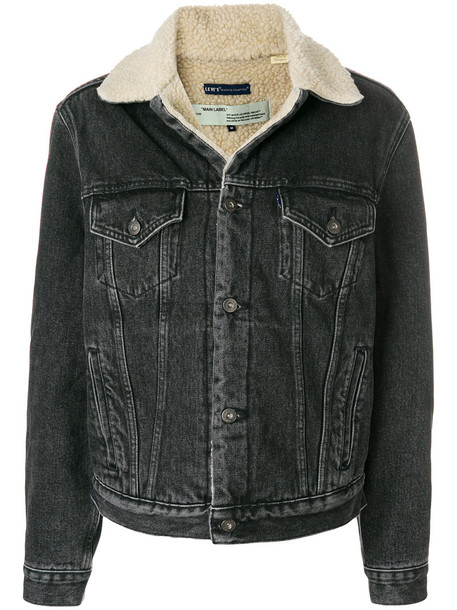 Off-White jacket women cotton black wool