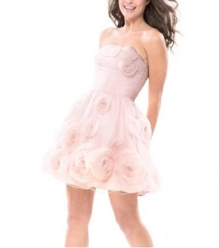 Betsey Johnson Afternoon Cloud Strapless Dress Pink