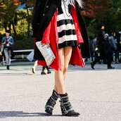 shoes,boots,red,stripes,stud,combat,black,coat