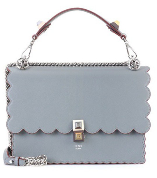 Fendi bag shoulder bag leather grey