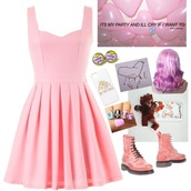 dress,pink boots,pink dress,melanie martinez,shoes