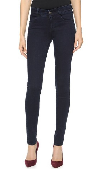 jeans skinny jeans long blue black