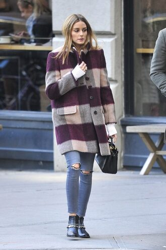 coat streetstyle blogger olivia palermo fall coat fall outfits jeans
