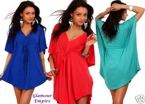 Amazing Batwing Casual Tunic Kimono Half Sleeve V Neck Holiday Top US 6/8/10 748 | Amazing Shoes UK
