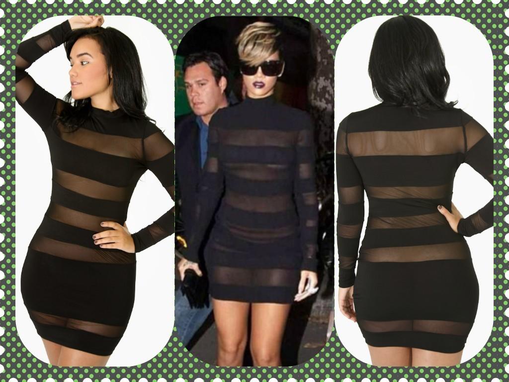 Rihanna Mesh Dress From Unique Stylez Boutique Square Market