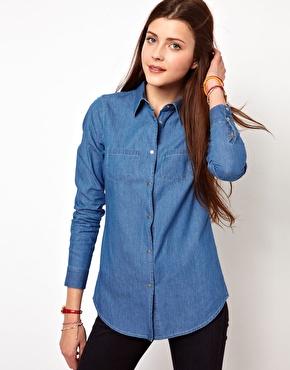 Vero Moda | Vero Moda - Chemise en jean - Bleu moyen chez ASOS