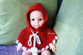 children,clothes,children infant kid,pixie hat hoodie,natural material,shoulder wrap,sweater beanie,cape capelett,christmas xmas gift,knit baby poncho,girl boy poncho,toddler poncho,winter accessory,girl poncho,knit red poncho,sweater