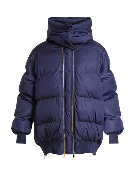 Stella McCartney jacket quilted dark blue dark blue