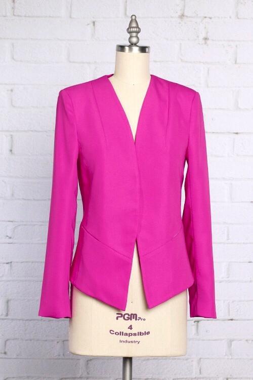 Neon Pink Boyfriend Blazer