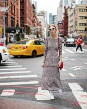dress,tumblr,maxi dress,long dress,long sleeves,long sleeve dress,sneakers,white sneakers,high top converse,white converse