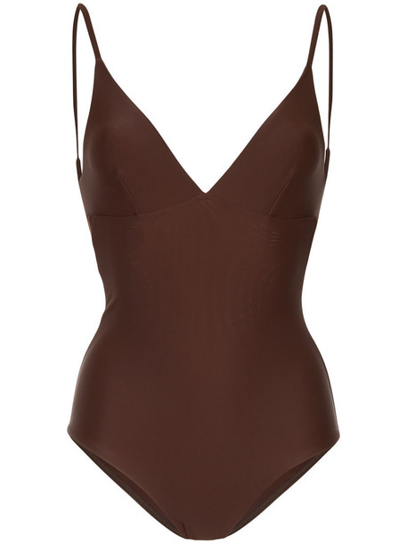 MATTEAU women spandex brown swimwear