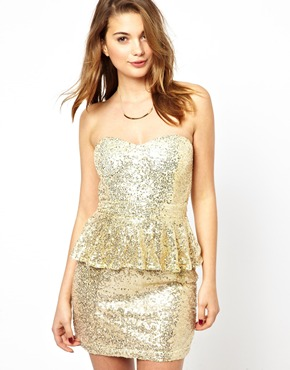 Glamorous | Glamorous Sequin Peplum Dress at ASOS