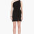 giambattista valli black one_shoulder draped dress