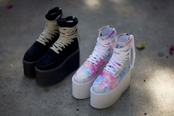 shoes multicolor sneakers platform shoes