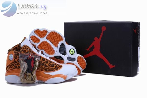 Air Jordan 13 Retro leopard print orange - $78.90