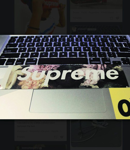 supreme phone case sticker