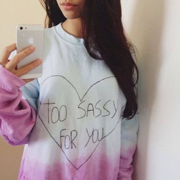 sweater sassy crewneck