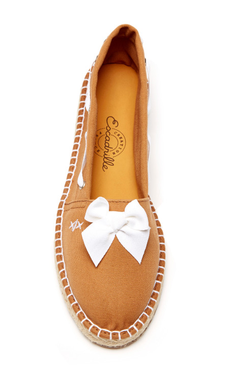 Striped Seersucker Espadrilles by Escadrille - Moda Operandi