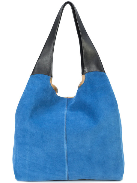 Hayward women leather blue suede bag