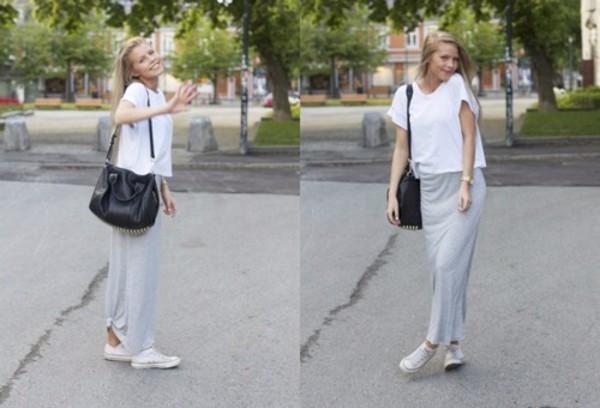 skirt grey maxi skirt aurora mohn swede
