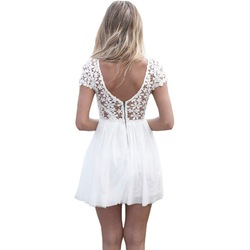 Online shop 2015 womens summer bandage bodycon lace evening party short mini dress