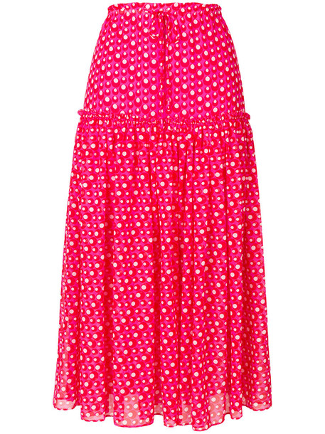 Steffen Schraut skirt polka dot skirt long women purple pink