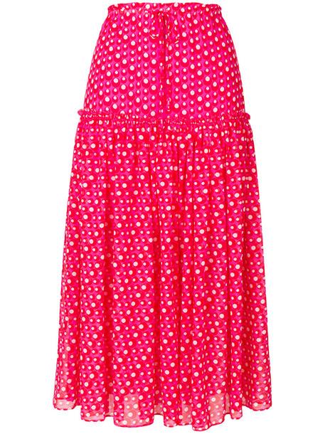Steffen Schraut skirt polka dot skirt long women purple pink