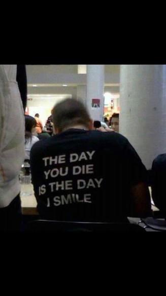 black black t-shirt t-shirt t-shirt with print smile